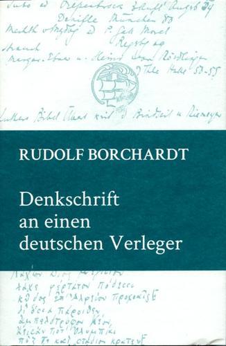 Denkschrift an einen deutschen Verleger